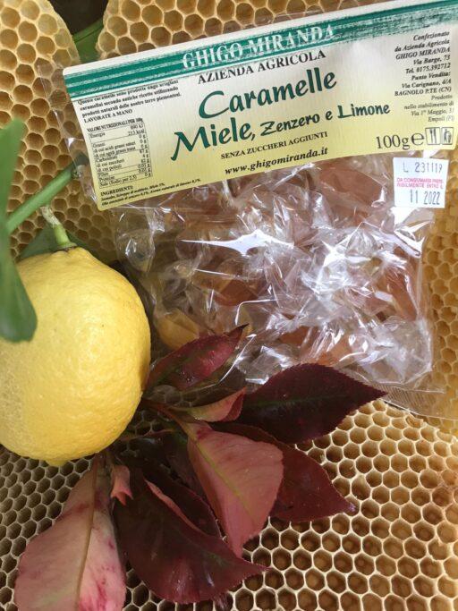 le caramelle miele, zenzero e limone