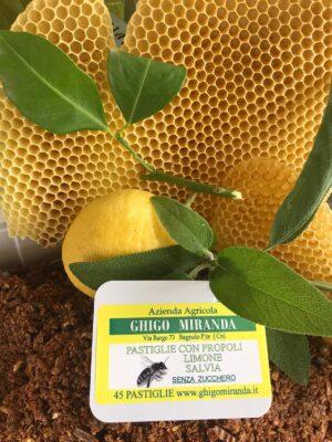le pastiglie con propoli limone salvia senza zucchero