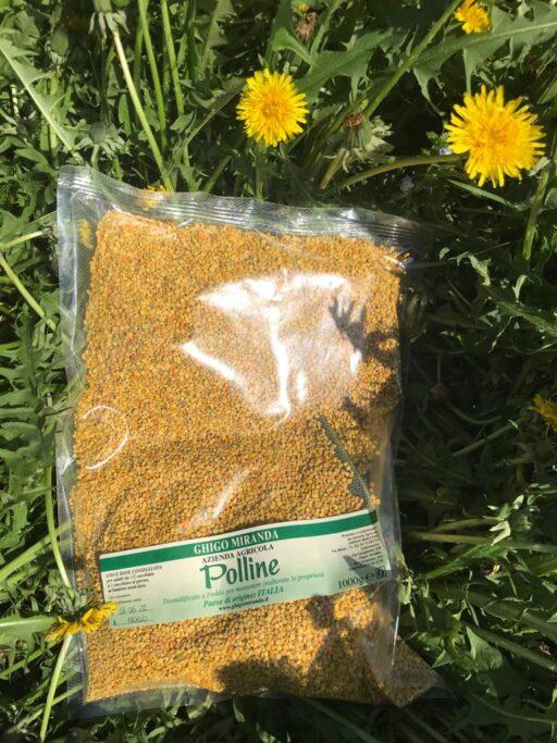 polline in grani busta