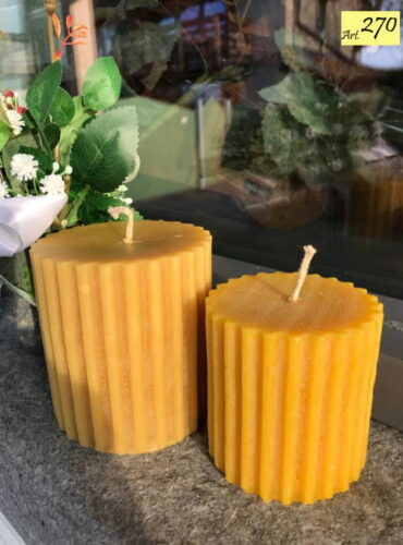 candele cera api Art.270 Gruppo cilindri strisce 2pz (2)