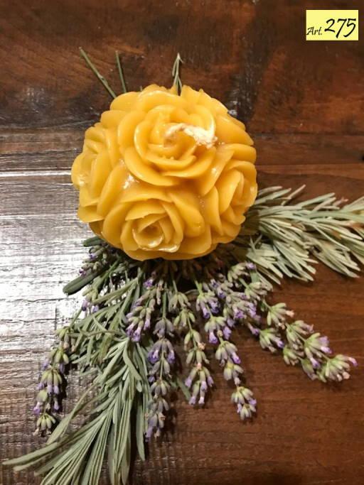 candela cera api Art.275 Sfera con rose (1)
