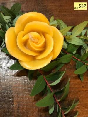 candela cera api Art.332 Rosa aperta (4)