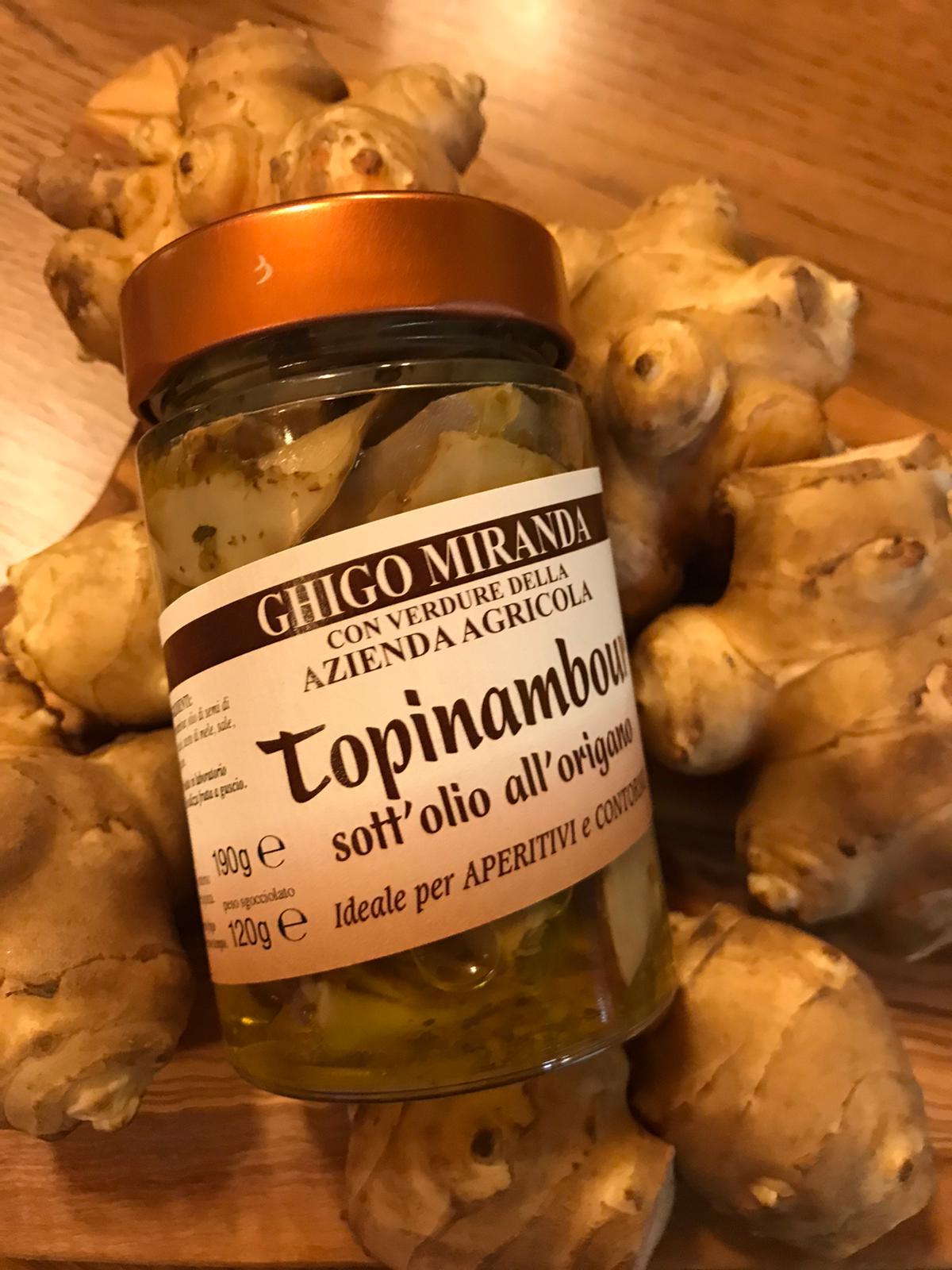 Topinambur olio origano