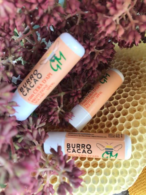 Burro Cacao con cera d'api protezione solare spf15